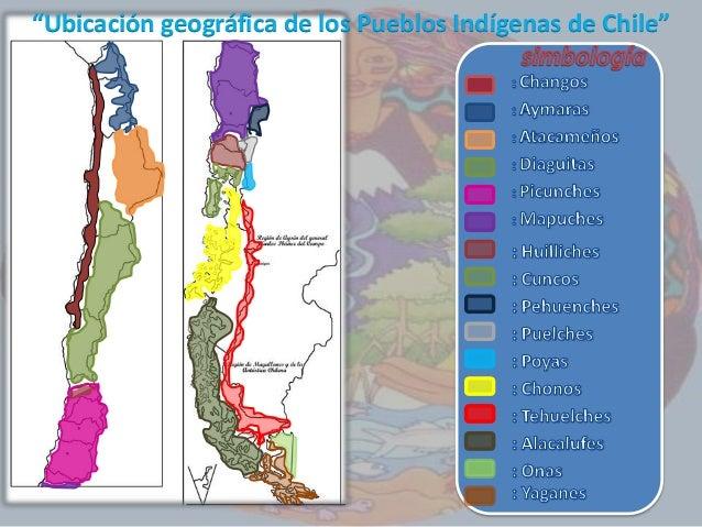 """""""Ubicación geográfica de los Pueblos Indígenas de Chile"""""""