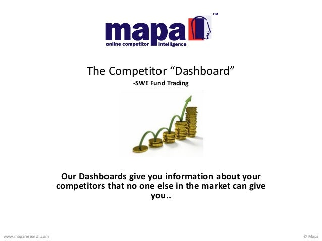 © Mapawww.maparesearch.comOur Dashboards give you information about yourcompetitors that no one else in the market can giv...