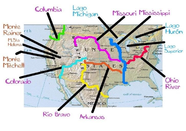 Rios Usa - Mapa de usa