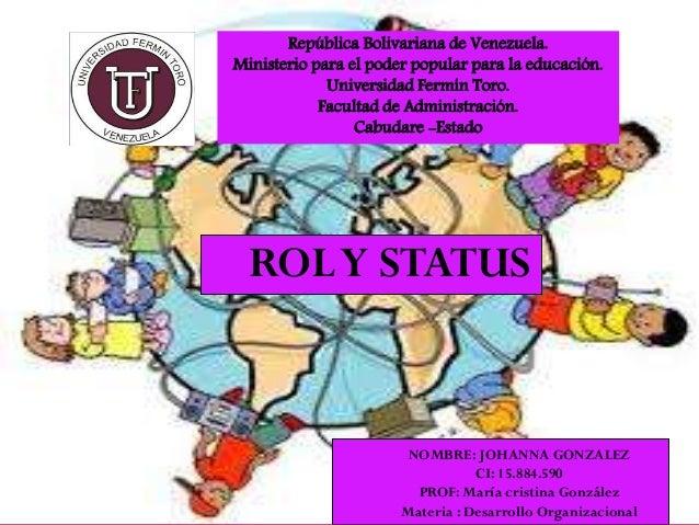 República Bolivariana de Venezuela. Ministerio para el poder popular para la educación. Universidad Fermín Toro. Facultad ...
