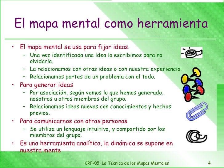 El mapa mental como herramienta <ul><li>El mapa mental se usa para fijar ideas. </li></ul><ul><ul><li>Una vez identificada...