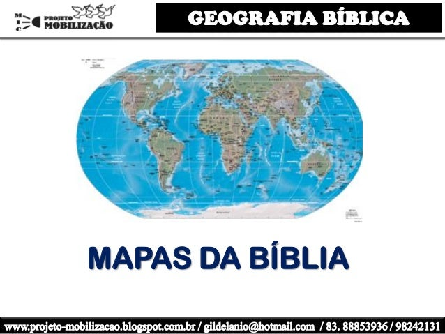 MAPAS DA BÍBLIA
