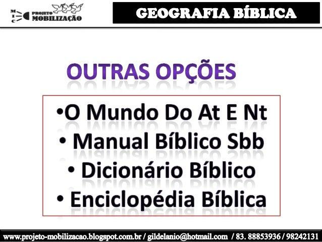 Mapas bíblicos aula 3 geografia juvep prof. gil da silva