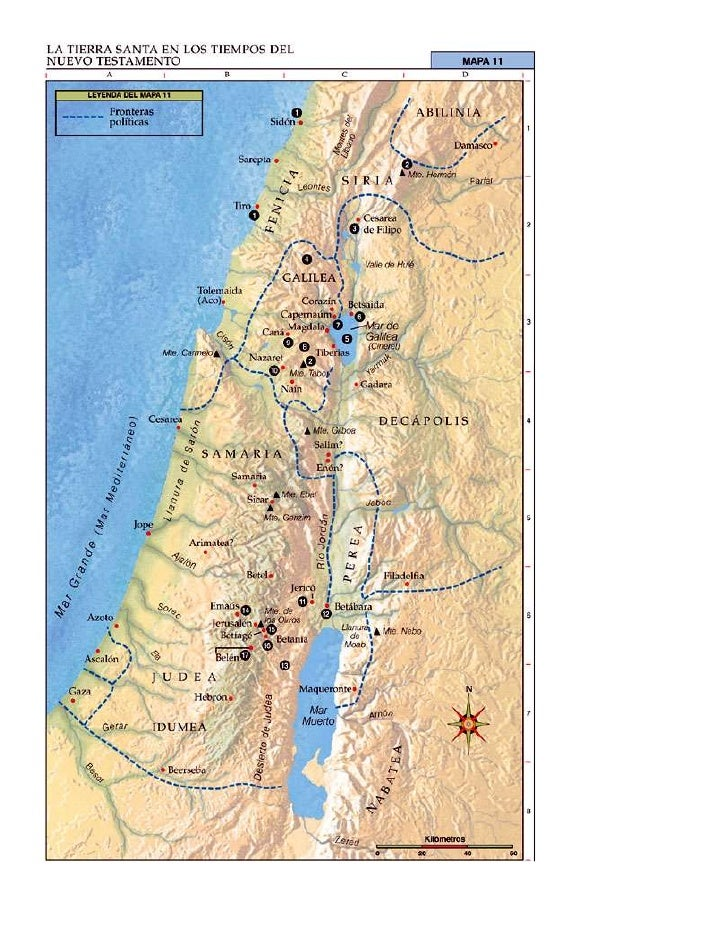 ... Viaje viaje israel antiguo tierra santa mapa israel corregido ...