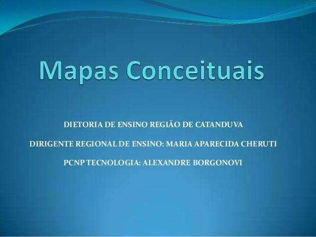 DIETORIA DE ENSINO REGIÃO DE CATANDUVA DIRIGENTE REGIONAL DE ENSINO: MARIA APARECIDA CHERUTI PCNP TECNOLOGIA: ALEXANDRE BO...