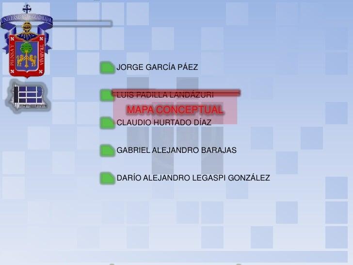 Taller de Habilidades para el Aprendizaje<br />JORGE GARCÍA PÁEZ<br />LUIS PADILLA LANDÁZURI<br />MAPA CONCEPTUAL<br />CLA...
