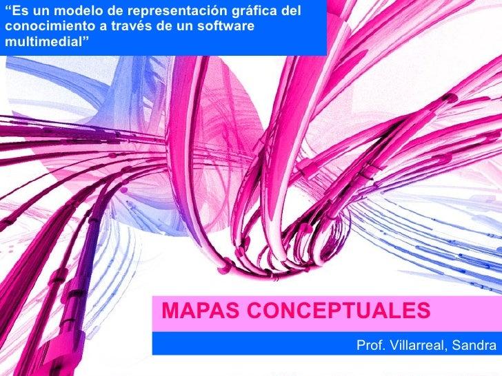 """MAPAS CONCEPTUALES """" Es un modelo de representación gráfica del conocimiento a través de un software multimedial"""" Prof. Vi..."""