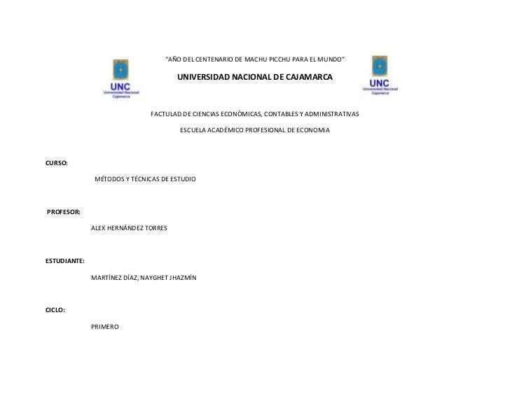 """814705311155928995-43180""""AÑO DEL CENTENARIO DE MACHU PICCHU PARA EL MUNDO""""<br />UNIVERSIDAD NACIONAL DE CAJAMARCA<br />FAC..."""