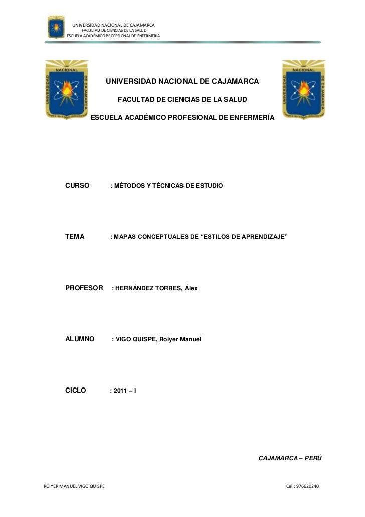 23495-25404933315-2540<br />UNIVERSIDAD NACIONAL DE CAJAMARCA<br />FACULTAD DE CIENCIAS DE LA SALUD<br />ESCUELA ACADÉMICO...