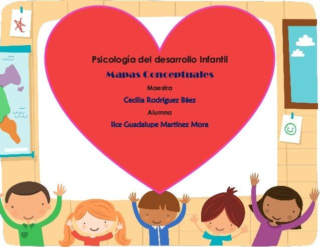 Psicología del desarrollo Infantil  Mapas Conceptuales  Maestra  Cecilia Rodríguez Báez  Alumna  Ilce Guadalupe Martínez M...