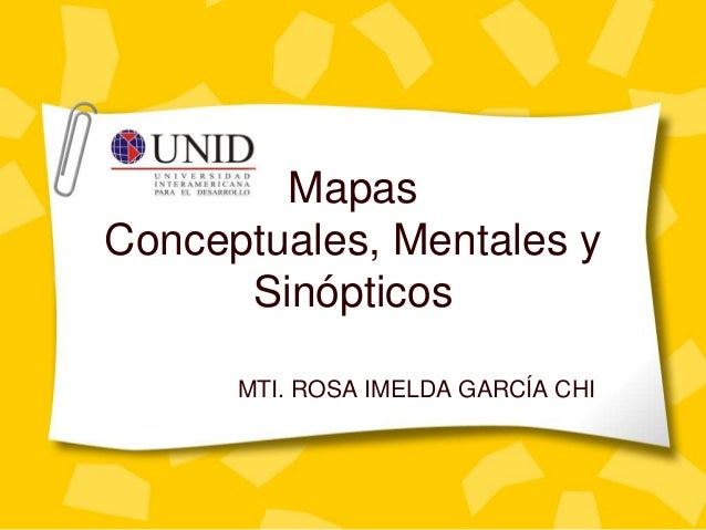 Mapas  Conceptuales, Mentales y  Sinópticos  MTI. ROSA IMELDA GARCÍA CHI