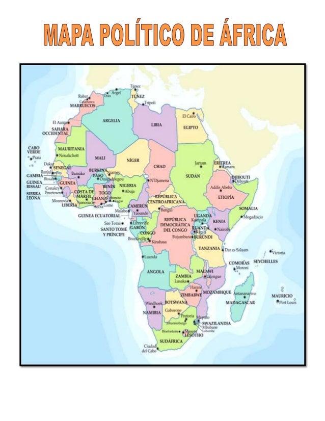 Mapa Politico De Africa En Español.Mapas De Africa