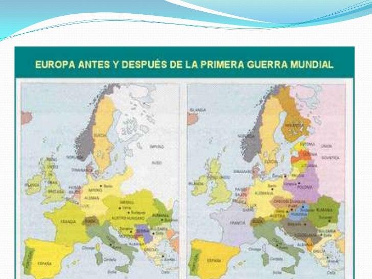 Mapas De Europa Antes Y Después De La Primera Guerra Mundial