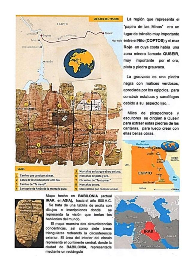 Mapas del Antiguo Egipto y de Babilonia