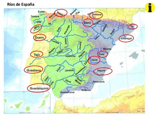 Mapa Fisico Peninsula Iberica Rios.Mapas De Localizacion