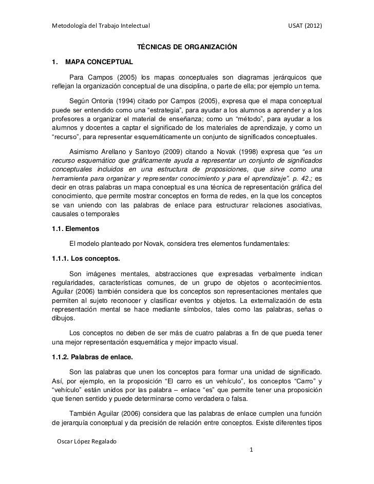Metodología del Trabajo Intelectual                                             USAT (2012)                              T...