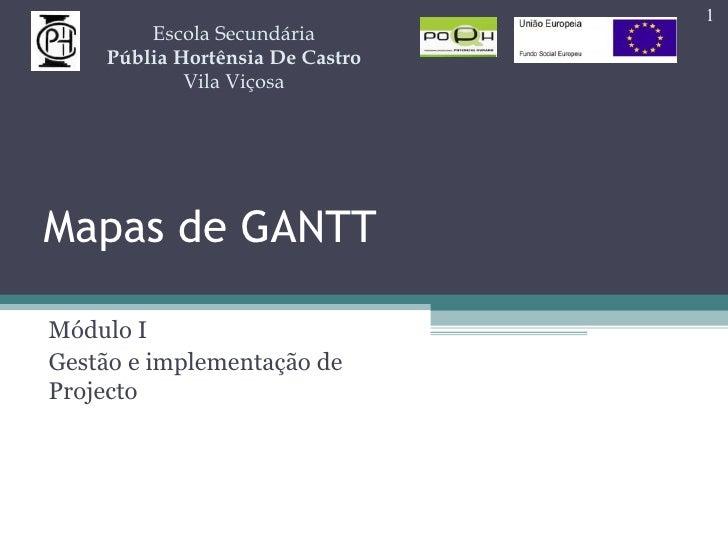 Mapas de GANTT Módulo I Gestão e implementação de Projecto Escola Secundária Públia Hortênsia De Castro Vila Viçosa