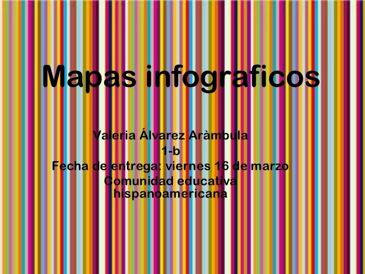 Mapas infograficos      Valeria Álvarez Aràmbula                 1-bFecha de entrega: viernes 16 de marzo        Comunidad...