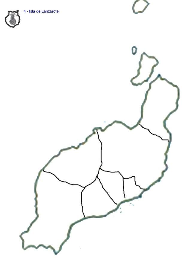 Isla De Lanzarote Mapa.Mapas Islas Canarias