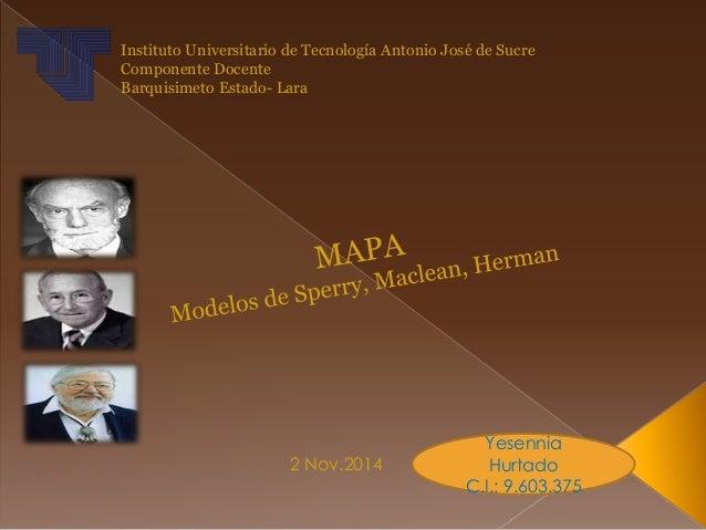 Instituto Universitario de Tecnología Antonio José de Sucre  Componente Docente  Barquisimeto Estado- Lara  2 Nov.2014  Ye...