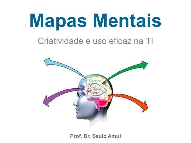 Mapas Mentais  Criatividade e uso eficaz na TI  Prof. Dr. Saulo Amui