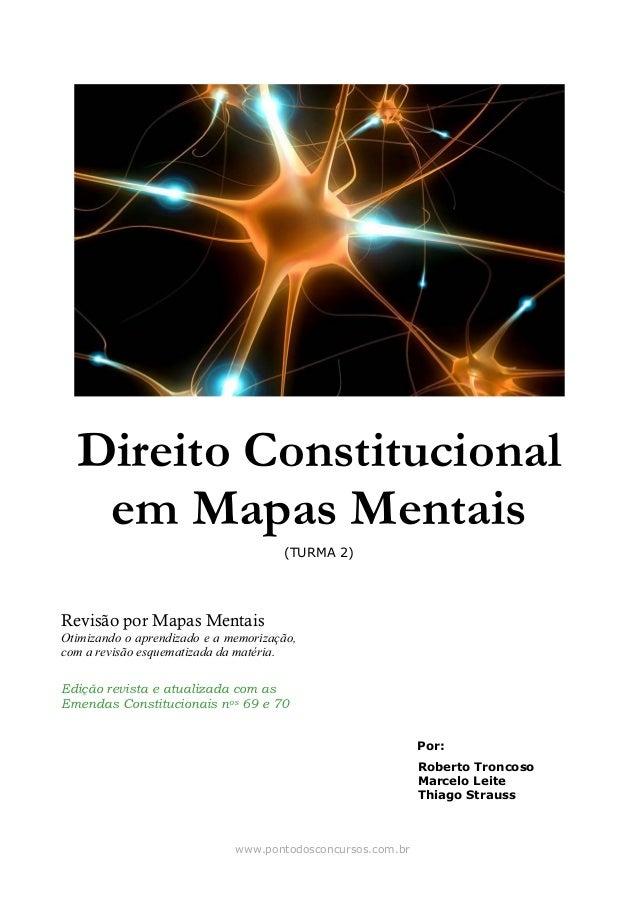 Direito Constitucional em Mapas Mentais (TURMA 2) Revisão por Mapas Mentais Otimizando o aprendizado e a memorização, com ...