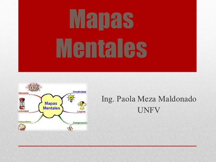 Mapas Mentales Ing. Paola Meza Maldonado UNFV