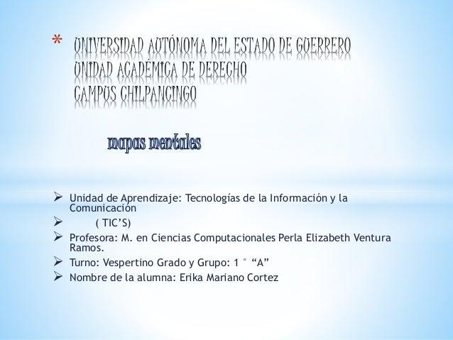 *   Unidad de Aprendizaje: Tecnologías de la Información y la  Comunicación   ( TIC'S)   Profesora: M. en Ciencias Comp...