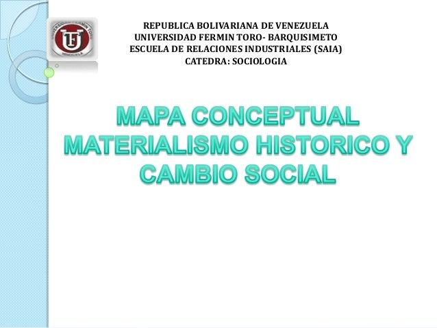 REPUBLICA BOLIVARIANA DE VENEZUELA UNIVERSIDAD FERMIN TORO- BARQUISIMETO ESCUELA DE RELACIONES INDUSTRIALES (SAIA) CATEDRA...