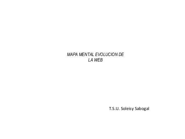 MAPA MENTAL EVOLUCION DE LA WEB T.S.U. Soleisy Sabogal