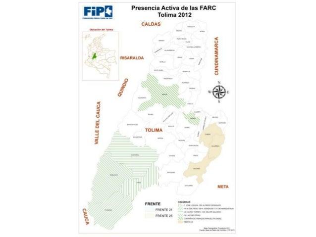Conflicto armado en Tolima y su impacto humanitario