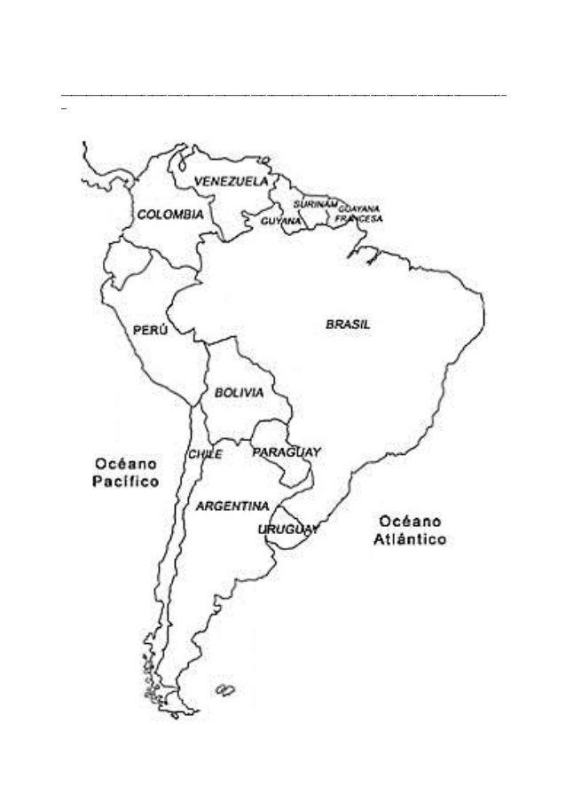 Mapa De Sudamerica Para Colorear Yunco - Mapa de sur america