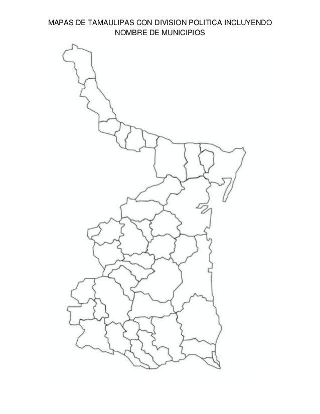 Mapa tamaulipas con nombre de municipios