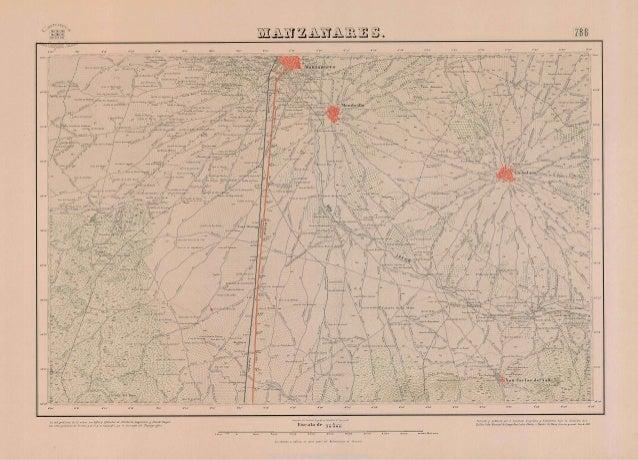 Mapa Topográfico de Manzanares. (año 1887). MTN 0786