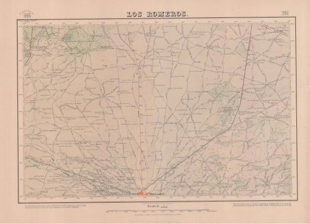 Mapa topográfico de Manzanares, zona norte (los  Romeros). año 1888. mtn  0761