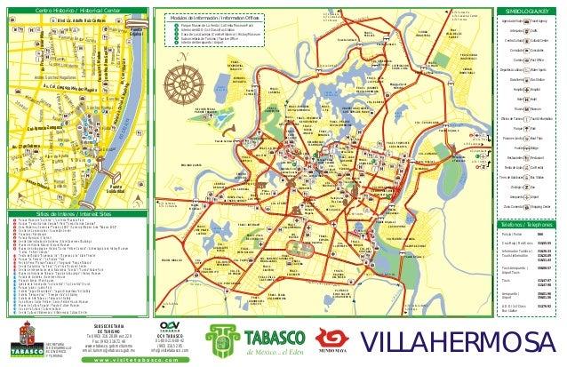 Mapa de Villahermosa Tabasco