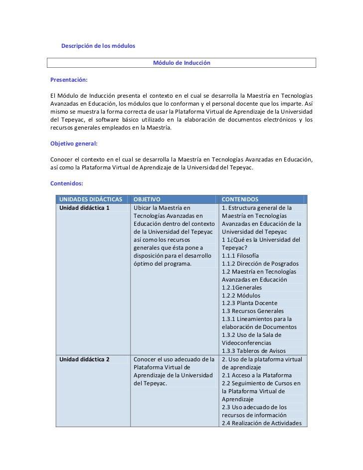 Mapa Curricular y Programas de Estudio de la Maestría Slide 3