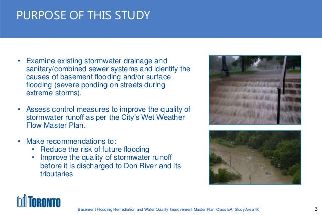 Basement Flooding Remediation And Water Quality Improvement Master Plan  Class EA: Study Area 40; 3.