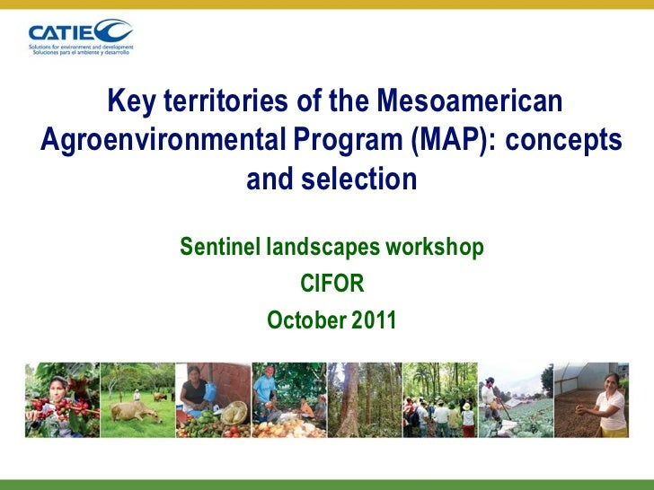 Key territories of the MesoamericanAgroenvironmental Program (MAP): concepts               and selection         Sentinel ...