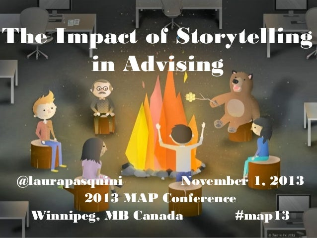The Impact of Storytelling in Advising  @laurapasquini November 1, 2013 2013 MAP Conference Winnipeg, MB Canada #map13