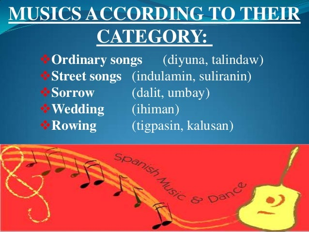 kalusan rowing song Pre- colonial period the livelihood of the people often sung to go with the movement of workers such as the kalusan (tagalog rowing song.