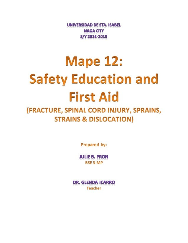 first aid and safety education
