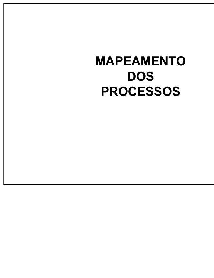 GAV - UFSCMAPEAMENTO    DOS PROCESSOS