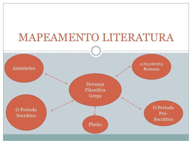 MAPEAMENTO LITERATURA                           A FILOSOFIAAristóteles                 Romana              Herança        ...