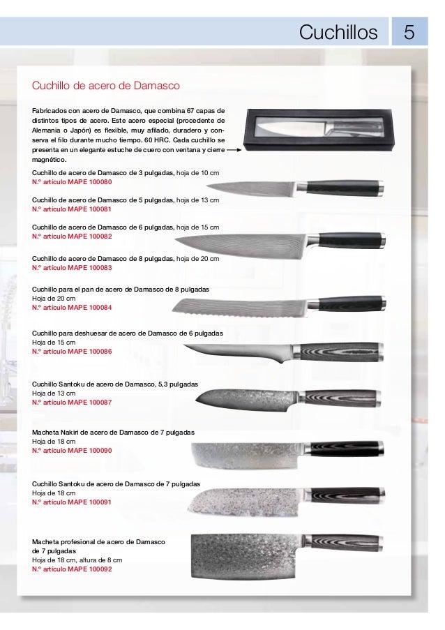 Mape cat logo de productos 2013 2014 for Clases de cuchillos de mesa