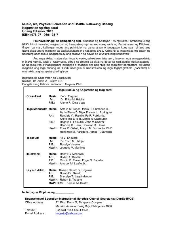 k to 12 grade 2 learning material in mapeh rh slideshare net Mapeh Frameworks Mapeh Wallpaper