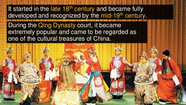 It started in the late 18th century and became fully developed and recognized by the mid-19th century. During the Qing Dyn...