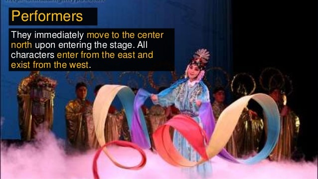 They immediately move to the center north upon entering the stage. All characters enter from the east and exist from the w...