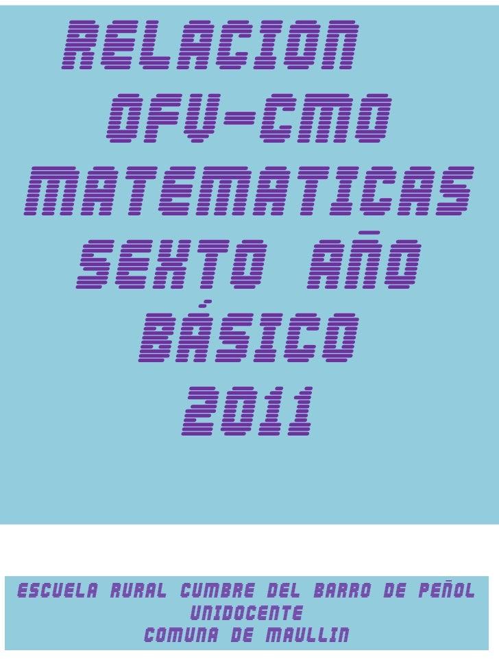 Mapeo ofv y cmo matematicas 6º año