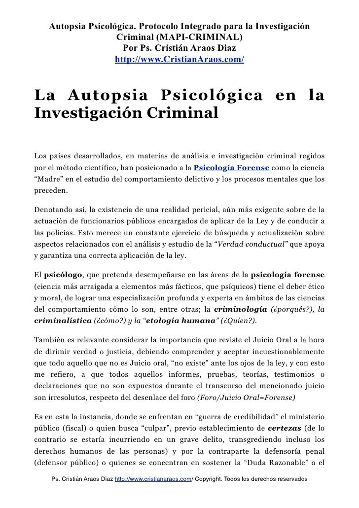 MODELO DE AUTOPSIA PSICOLÓGICA INTEGRADO PARA LA INVESTIGACIÓN CRIMIN…